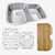 """Nantucket Sinks Sconset Collection 60/40 Double Bowl Kitchen Sink with Cutting Board, Grids and Colander Drains, Brushed Satin Stainless Steel, 32-1/4"""" Wide"""