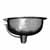 Nantucket Sinks Brightwork Home Collection Hand Hammered Stainless Steel Oval Undermount Bathroom Sink With Overflow, 17-1/2''W x 13-3/4''D x 7-3/8''H