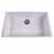 "Nantucket Sinks Plymouth Collection Large Single Bowl Undermount Granite Composite White Sink, 30""W x 17-3/4""D x 8-1/4""H"