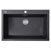 """Nantucket Sinks Plymouth Collection 33"""" Dual-Mount Granite Composite Sink in Matte Black, 33"""" W x 22"""" D x 11"""" H"""
