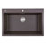 """Nantucket Sinks Plymouth Collection 33"""" Dual-Mount Granite Composite Sink in Matte Brown, 33"""" W x 22"""" D x 11"""" H"""