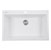 """Nantucket Sinks Plymouth Collection 33"""" Dual-Mount Granite Composite Sink in Matte White, 33"""" W x 22"""" D x 11"""" H"""