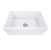 "27"" Fireclay Sink White Overhead View"