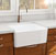"Nantucket Sinks Cape Collection 27"" Farmhouse Fireclay Sink with Bottom Grid and Stainless Steel Drain in Porcelain Enamel Glaze White, 27"" W x 19"" D x 10"" H"