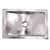 """Nantucket Sinks Brightwork Home Collection Hand Hammered Single Bowl Stainless Steel Rectangle Undermount Bathroom Sink, Silver, 18-4/5""""W x 12-4/5""""D x 6""""H"""