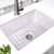 Nantucket Sinks Cape Collection 27''W Dualmount Rectangular Fireclay Kitchen Sink