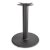 """Peter Meier 3000 Series Signature Line Flat Style Table Base 22"""" Round Table Height in Black Matte, 4"""" Column, Base Spread: 22"""" Diameter"""