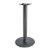 "Peter Meier 3000 Series Signature Line Flat Style Table Base 22"" Round Bar Height in Black Matte, 4"" Column, Base Spread: 22"" Diameter"