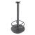 """Peter Meier 3000 Series Signature Line Flat Style Table Base 22"""" Round Bar Height with Foot Ring in Black Matte, Base Spread: 22"""" Diameter, Spider Spread: 9"""" Diameter, Height: 40"""" H"""