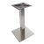 "Peter Meier 5000 Series Verona Line Brushed Stainless Steel Table Base 22"" Square Table Height, Square Column, Base Spread: 22"" W, Spider Spread: 12"" W, Height: 28-1/2"" H"
