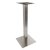 "Peter Meier 5000 Series Verona Line Brushed Stainless Steel Table Base 22"" Square Bar Height, Square Column, Base Spread: 22"" W, Spider Spread: 12"" W, Height: 40-1/4"" H"