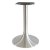 "Peter Meier 6000 Series Palermo Line Trumpet Alumimun Base Table Height in Brushed, 3"" Column Diameter x 28"" H, 20"" Base Spread, 12"" Spider Spread"