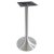 "Peter Meier 6000 Series Palermo Line Trumpet Aluminum Bar Height Table Base in Brushed, 3"" Column Diameter x 43"" H, 20"" Base Spread, 12"" Spider Spread"