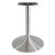 """Peter Meier 6000 Series Palermo Line Trumpet Alumimun Base Table Height in Brushed, 3"""" Column Diameter x 28"""" H, 22"""" Base Spread, 12"""" Spider Spread"""