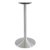 """Peter Meier 6000 Series Palermo Line Trumpet Table Base 22"""" Round Bar Height in Brushed Aluminum, Base Spread: 22"""" Diameter, Spider Spread: 12"""" Diameter, Height: 40-1/2"""" H"""