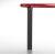 """Peter Meier Isola Table Leg Series, Single Table Leg for Island Table in Black Flat, 3"""" Diameter x 24-3/4"""" H"""