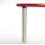 """Peter Meier Isola Table Leg Series, Single Table Leg for Island Table in Chrome, 3"""" Diameter x 24-3/4"""" H"""