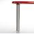 """Peter Meier Isola Table Leg Series, Single Table Leg for Island Table in Brushed Chrome, 3"""" Diameter x 24-3/4"""" H"""