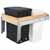 "Wood Top Mount Pullout with Single Black 6-gallon Compo + and Single White Quart (8.75 Gallon) Container w/ Ball-Bearing Soft-Close Slides, Minimum Cabinet Opening: 15""W x 22-7/8""D x 21""H"