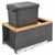 Rev-A-Shelf Single 35 Quart (8.75 Gallon) Metal LEGRABOX Trash Pullout, Orion Gray Can with Natural Maple Insert, Bottom Mount with BLUMOTION Full Extension Soft-Close Slides