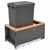 Rev-A-Shelf Single 50 Quart (12.5 Gallon) Metal LEGRABOX Trash Pullout, Orion Gray Can with Natural Maple Insert, Bottom Mount with BLUMOTION Full Extension Soft-Close Slides