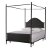 Canopy Bed w/ Metal Bed Rail View 2