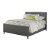 Bed w/ Rails Linen Charcoal Fabric View 2