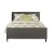 Bed w/ Rails Linen Charcoal Fabric View 3