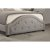 Bed w/ Rails Light Gray Fabric View 6