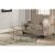 """Hillsdale Furniture Corbin Coffee Table with (2) Glass Shelves in Silver with Black Rub Finish, 48"""" W x 30"""" D x 20"""" H"""