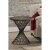 """Hillsdale Furniture Kanister End Table in Weathered Walnut Finished Wood/Dark Pewter Metal Finish, 22"""" W x 22"""" D x 24"""" H"""