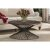 "Hillsdale Furniture Kanister Coffee Table  in Weathered Walnut Finished Wood/Dark Pewter Metal Finish, 40-5/8"" W x 40-5/8"" D x 20"" H"