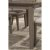 Rectangle Dining Table Distressed Gray Product View 5