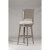 Bar Stool Distressed Gray & Fog Fabric