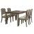5-Piece Set w/ Chairs Distressed Gray & Fog Fabric