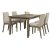 5-Piece Set w/ Upholstered Chairs Distressed Gray & Fog Fabric