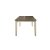 Rectangle Dining Table Sea White Base Product View 4