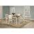 5-Piece Set w/ Chairs Sea White & Fog Fabric