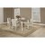 5-Piece Set w/ Upholstered Chairs Sea White & Fog Fabric