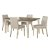 5-Piece Set w/ Upholstered Chairs Sea White & Fog Fabric Product View