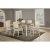 7-Piece Set w/ Chairs Sea White & Fog Fabric