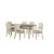 7-Piece Set w/ Chairs Sea White & Fog Fabric Product View