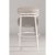 Bar Stool Off White & Silver Fabric