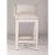 Bar Stool White (Wirebrush) & Silver Fabric