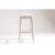 White & Trellis Ash Fabric Side View