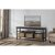 "Hillsdale Furniture Seneca Storage Console with (3) Baskets Included in Waxed Black Base / Walnut Finished Top / Natural Seagrass Finish, 55-3/4"" W x 16"" D x 24"" H"
