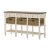 Sofa Table w/ (3) Drawers & (3) Baskets: Product View 2