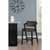 """Hillsdale Furniture Snyder Stationary Counter Height Stool, Blackwash, 21-1/2""""W x 24""""D x 37-1/2""""H"""