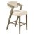 "Hillsdale Furniture Snyder Non-Swivel Bar Stool  in Aged Gray Finish and Ecru Fabric, 22-1/2"" W x 25-1/2"" D x 43"" H"