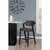 "Hillsdale Furniture Snyder Stationary Bar Height Stool, Blackwash, 21-1/2""W x 25""D x 43-1/2""H"